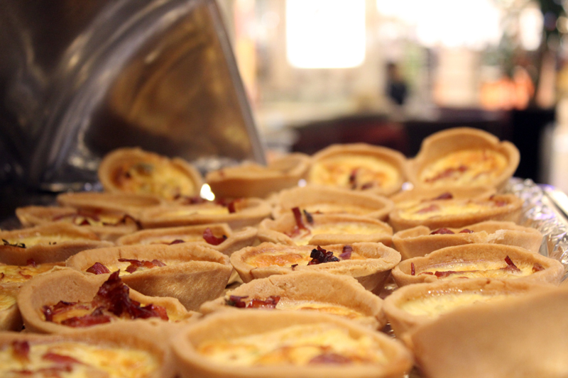 Előétel 3: Quiche loraine almával és sonkával
